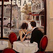 """Картины и панно ручной работы. Ярмарка Мастеров - ручная работа """" Кафе в Париже """" (копия).. Handmade."""
