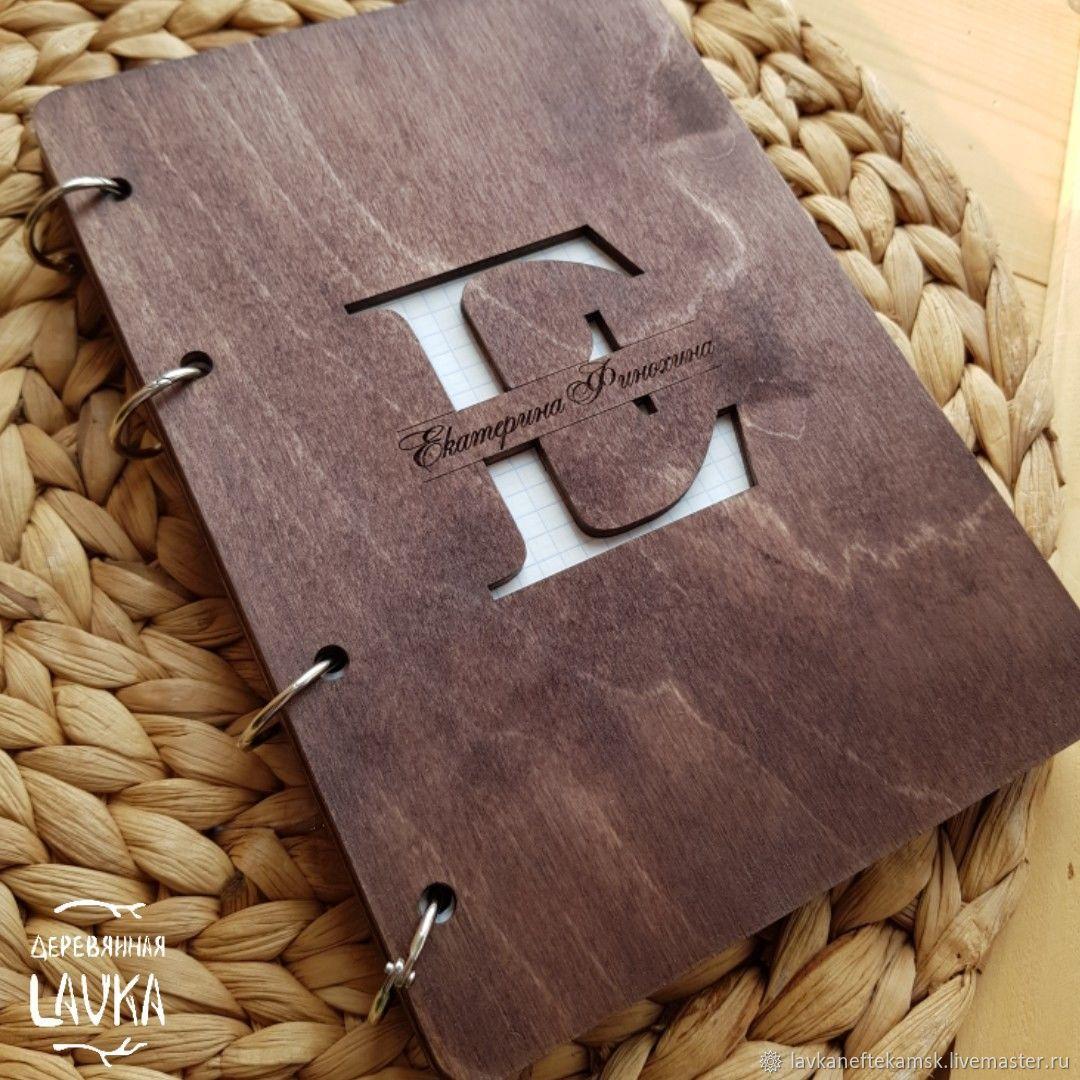 Эко блокнот деревянный, Блокноты, Нефтекамск,  Фото №1