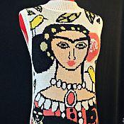 """Одежда ручной работы. Ярмарка Мастеров - ручная работа Вязаная кашемироая жилетка """"Фрида """". Handmade."""