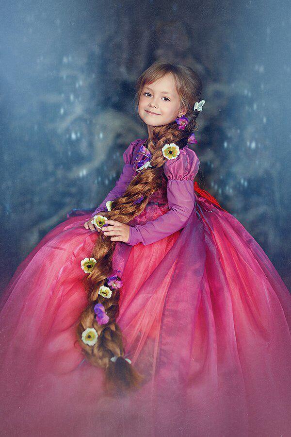 Платье рапунцель для девочек