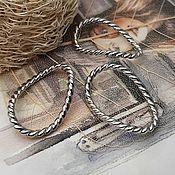 Материалы для творчества handmade. Livemaster - original item 1 PCs. Connector ring twisted 22x15 mm platinum (3567). Handmade.