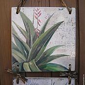 """Картины и панно ручной работы. Ярмарка Мастеров - ручная работа """"Каланхое"""". Handmade."""