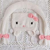 """Работы для детей, ручной работы. Ярмарка Мастеров - ручная работа Шапка """"Hello kitty"""" (весна). Handmade."""
