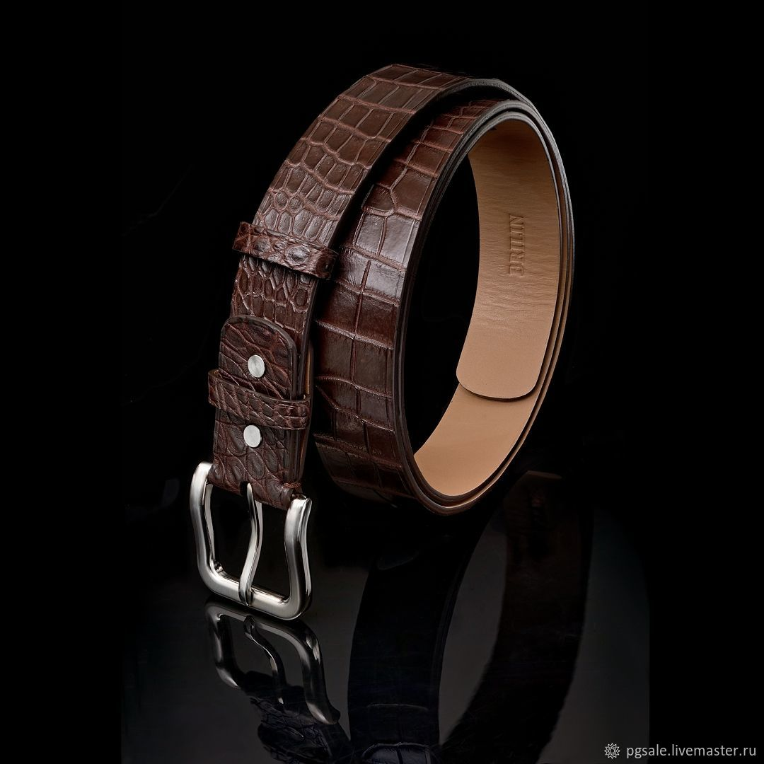 Leather belly crocodile, precious gift a man, Straps, St. Petersburg,  Фото №1