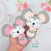 Сувениры и подарки handmade. Livemaster - original item Modest mouse-symbols of 2020. Mouse felt.. Handmade.