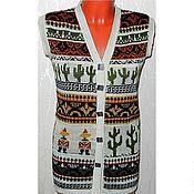 Одежда handmade. Livemaster - original item Vest knitted Mexico. Handmade.