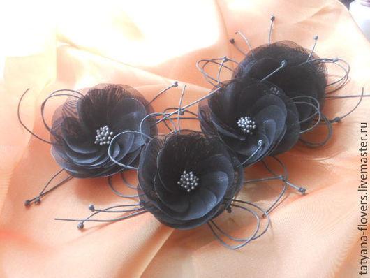 Комплекты украшений ручной работы. Ярмарка Мастеров - ручная работа. Купить цветочная идея. Handmade. Темно-серый