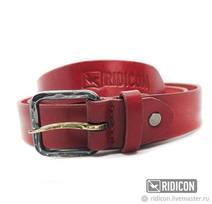 Belts handmade. Livemaster - handmade. Buy Red women's belt with forged buckle.Handmade, strap, tanks, forged steel
