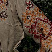 Русский стиль ручной работы. Ярмарка Мастеров - ручная работа рубаха русская с вышивкой Обережное. Handmade.
