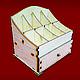 Декупаж и роспись ручной работы. Ярмарка Мастеров - ручная работа. Купить Ящик для косметики мал. С одним выдвижным отсеком арт152196-s. Handmade.