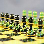 Сувениры и подарки ручной работы. Ярмарка Мастеров - ручная работа шахматы подарочные авторские Бант на зелёном. Handmade.