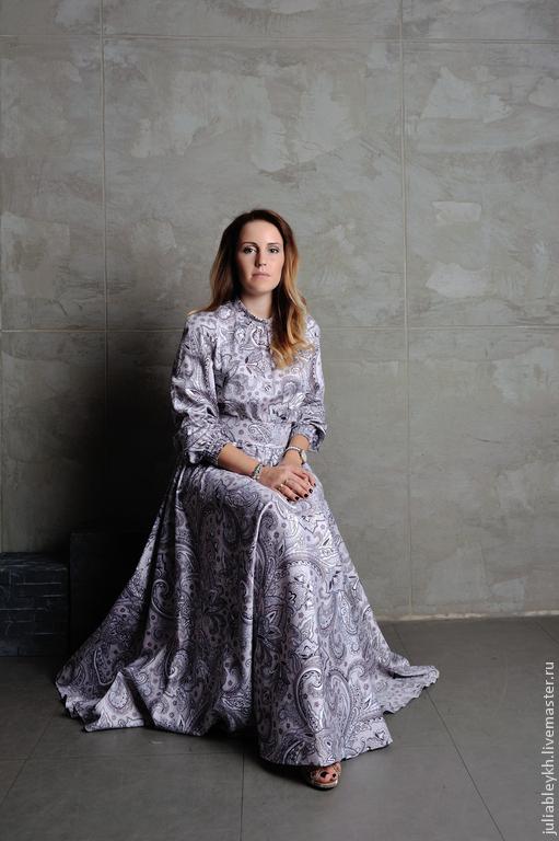 """Платья ручной работы. Ярмарка Мастеров - ручная работа. Купить Платье """"Царевна ветров"""". Handmade. Серый, платье вечернее, осень"""