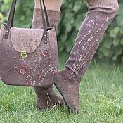 """Обувь ручной работы. Ярмарка Мастеров - ручная работа Сапожки валяные """"Марсианские травы"""". Handmade."""