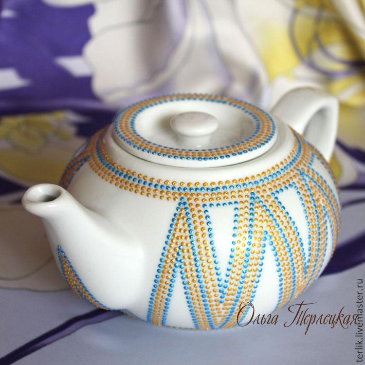 65cc28fe5f51 чайник, чайник заварочный, чайник заварочный фарфоровый, чайник фарфоровый  с росписью, авторская роспись ...