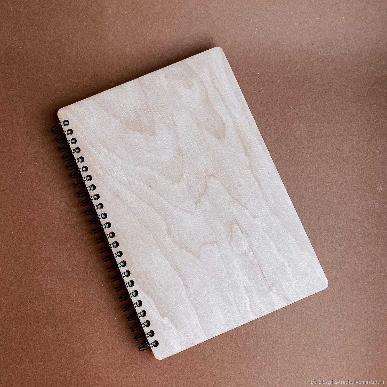 Б.А5 Блокнот А5 с деревянной обложкой, Блокноты, Великий Новгород,  Фото №1