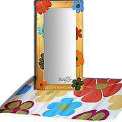 Для дома и интерьера ручной работы. Ярмарка Мастеров - ручная работа Зеркало настенное Цветы. Handmade.
