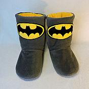 Обувь ручной работы handmade. Livemaster - original item Batman Slippers. Handmade.