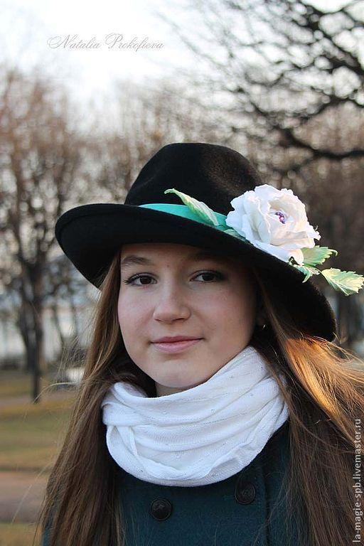 """Шляпы ручной работы. Ярмарка Мастеров - ручная работа. Купить Шляпа """"La fraicheur de menthe"""" (Мятная свежесть). Handmade."""