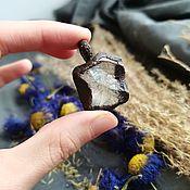 Украшения handmade. Livemaster - original item Copper pendant with rock crystal 3. Handmade.