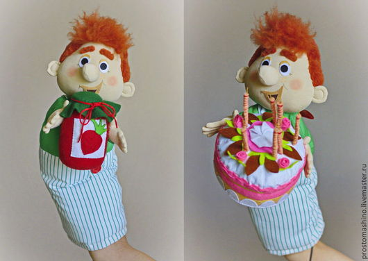 "Кукольный театр ручной работы. Ярмарка Мастеров - ручная работа. Купить Кукольный театр ""Карлсон, который живет на крыше"". Handmade. Карлсон"