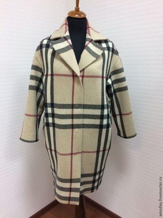 Пальто из двусторонней шерсти с кашемиром. Для примера. Пальто бренда AMODAY.