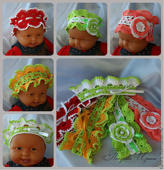 Шапки и шарфы ручной работы. Ярмарка Мастеров - ручная работа. Купить Повязки на голову для девочек в ассортименте. Handmade. Повязка на голову