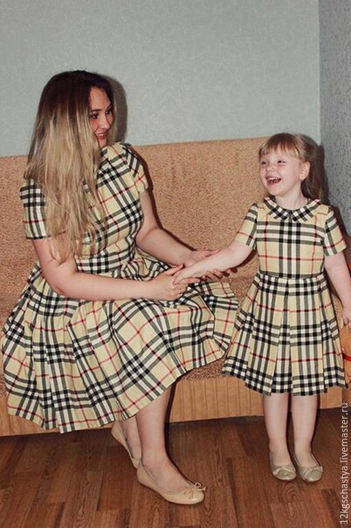 959514d0b2fc Платья ручной работы. Ярмарка Мастеров - ручная работа. Купить Платья для  мамы и дочки ...