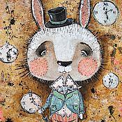 Картины и панно ручной работы. Ярмарка Мастеров - ручная работа Кролик (репродукция). Handmade.