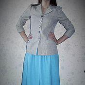 Одежда ручной работы. Ярмарка Мастеров - ручная работа Льняной пиджак. Handmade.