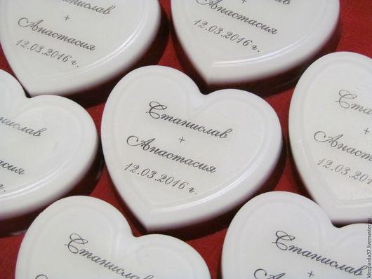 Подарки на свадьбу ручной работы. Ярмарка Мастеров - ручная работа. Купить Свадебное мыло комплимент для гостей.. Handmade. Комбинированный, комплимент