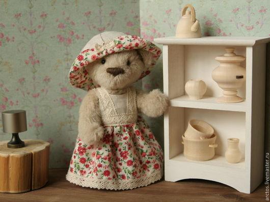 Мишки Тедди ручной работы. Ярмарка Мастеров - ручная работа. Купить Глафира. Handmade. Бежевый, мишка, шплинтовое крепление