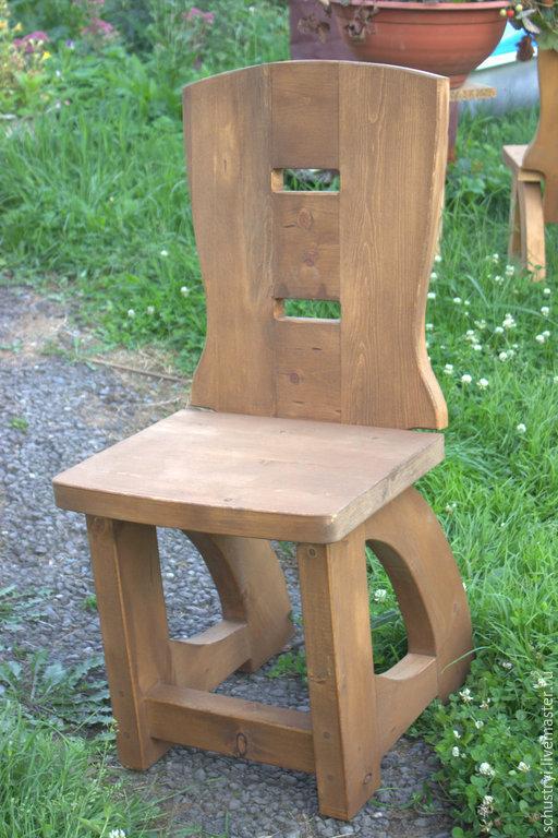 Мебель ручной работы. Ярмарка Мастеров - ручная работа. Купить Деревянный стул из кедра Средневековый. Handmade. Стул, мебель для дачи