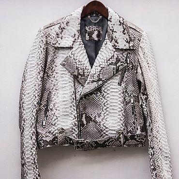 Одежда ручной работы. Ярмарка Мастеров - ручная работа Куртка косуха из питона. Handmade.