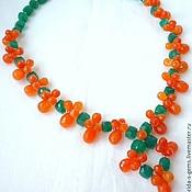 Necklace handmade. Livemaster - original item Elegant NECKLACE - CARNELIAN, green ONYX beads.. Handmade.