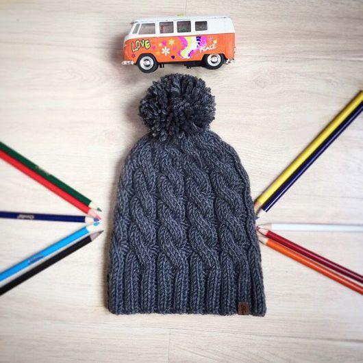 Шапки и шарфы ручной работы. Ярмарка Мастеров - ручная работа. Купить Шапка с косами из 100% мериноса. Handmade. Шапка