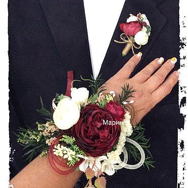 Свадебный салон ручной работы. Ярмарка Мастеров - ручная работа Букет для невесты на руку.. Handmade.