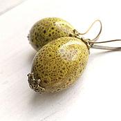 Украшения handmade. Livemaster - original item A melon who? earrings. ceramics.. Handmade.