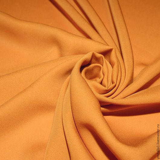 Шитье ручной работы. Ярмарка Мастеров - ручная работа. Купить Креп шелковый  ESCADA  оранжевый. Handmade. Платье из шелка