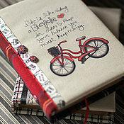 """Канцелярские товары ручной работы. Ярмарка Мастеров - ручная работа Блокнот с нуля """"Красный велосипед"""". Handmade."""