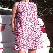 """Одежда ручной работы. Ярмарка Мастеров - ручная работа Мини платье трапеция """"Сердечки"""". Handmade."""