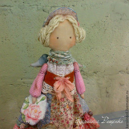 Коллекционные куклы ручной работы. Ярмарка Мастеров - ручная работа. Купить Весенняя пташка. Handmade. Розовый, бохо, текстиль