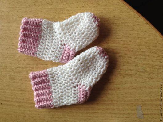 Белье ручной работы. Ярмарка Мастеров - ручная работа. Купить Носочки для малышей. Handmade. Однотонный, носочки для малышей, шитье