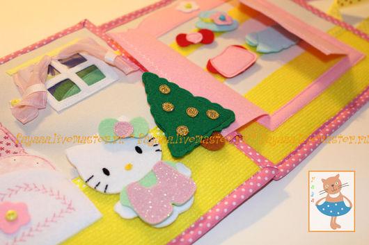 Развивающие игрушки ручной работы. Ярмарка Мастеров - ручная работа. Купить Развивающая мягкая книжка из ткани и фетра Kitty. Handmade.