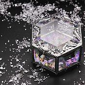 Свадебный салон handmade. Livemaster - original item Magic. Glass box for wedding rings. Handmade.