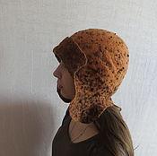 Аксессуары ручной работы. Ярмарка Мастеров - ручная работа Шапка-шлем Шоколадная крошка двухсторонняя. Handmade.