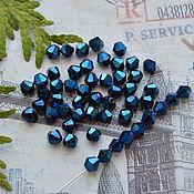 Материалы для творчества handmade. Livemaster - original item Cobalt 4h4 mm beacons. Handmade.