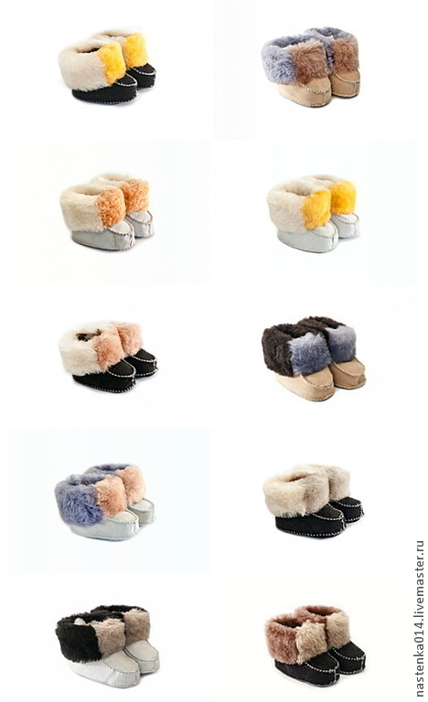 Обувь ручной работы. Ярмарка Мастеров - ручная работа. Купить Тапочки из меха (детские и взрослые). Handmade. Пинетки, тапочки жен