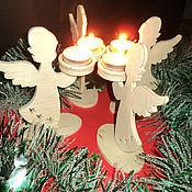 Для дома и интерьера ручной работы. Ярмарка Мастеров - ручная работа Ангелочки-подсвечники. Handmade.