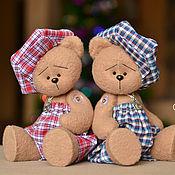 Куклы и игрушки ручной работы. Ярмарка Мастеров - ручная работа Мишки Мишутки в клеточку. Handmade.