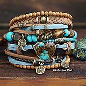 Украшения handmade. Livemaster - original item Blue Boho style bracelet